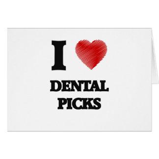 Amo selecciones dentales tarjeta de felicitación