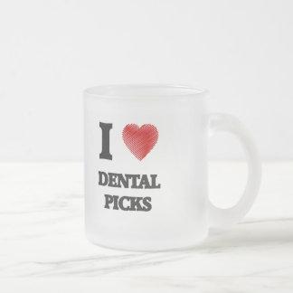 Amo selecciones dentales taza de cristal