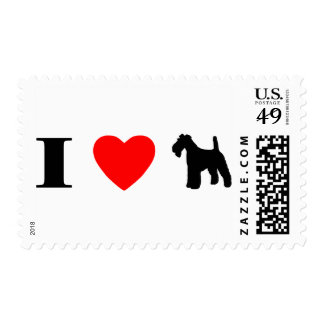 Amo sellos de los fox terrier del alambre