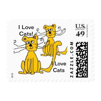 Amo sellos de los gatos