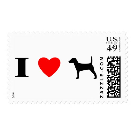 Amo sellos de los terrieres de Jack Russell