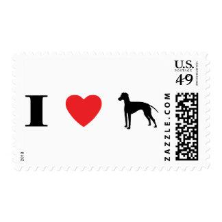 Amo sellos de los terrieres de Manchester
