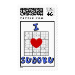 Amo sellos del rompecabezas de Sudoku del corazón