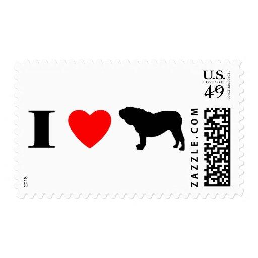 Amo sellos ingleses de los dogos