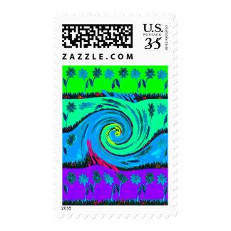 Amo sellos luminosos de los colores del verano