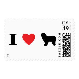 Amo sellos polacos de los perros pastor de la