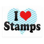 Amo sellos tarjetas postales