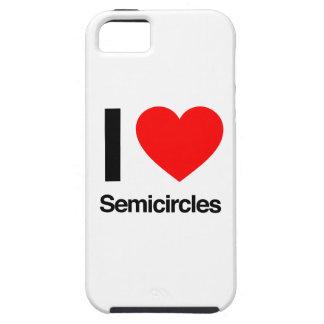 amo semicírculos iPhone 5 fundas
