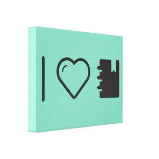 Amo señales lienzo envuelto para galerías