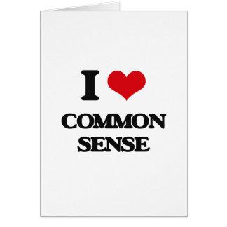 Amo sentido común tarjetón