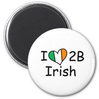amo ser irlandés imán redondo 5 cm