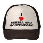 Amo Serbia y Montenegro Gorros