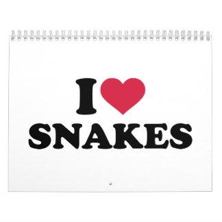 Amo serpientes calendario