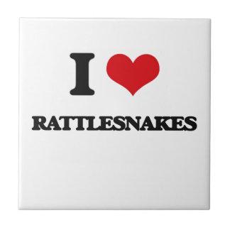 Amo serpientes de cascabel azulejo