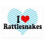 Amo serpientes de cascabel postal