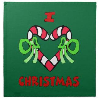 Amo servilletas del navidad