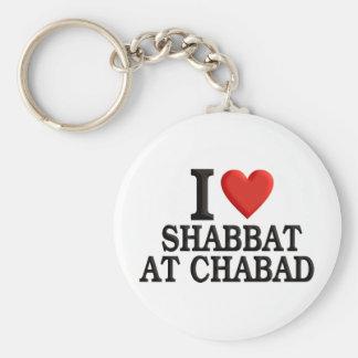 Amo Shabbat en Chabad Llavero Redondo Tipo Pin