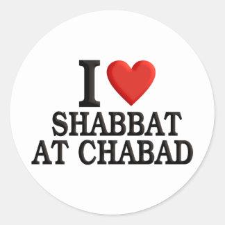 Amo Shabbat en Chabad Pegatina Redonda