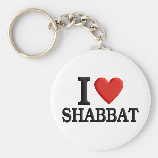 Amo Shabbat Llavero Redondo Tipo Pin