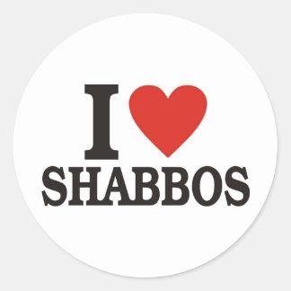 Amo Shabbos Pegatina Redonda