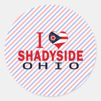 Amo Shadyside Ohio Pegatinas Redondas