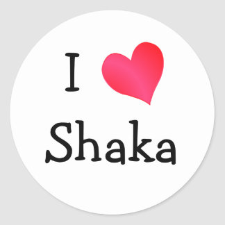 Amo Shaka Pegatina Redonda