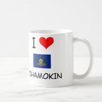 Amo Shamokin Pennsylvania Taza Básica Blanca