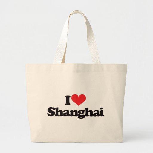 Amo Shangai Bolsa Tela Grande