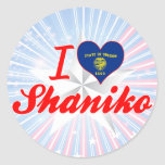 Amo Shaniko, Oregon Pegatina Redonda