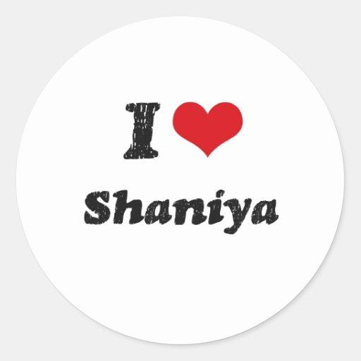 Amo Shaniya Pegatina Redonda