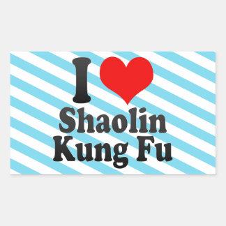 Amo Shaolin Kung Fu Pegatina Rectangular