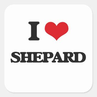 Amo Shepard Pegatina Cuadrada