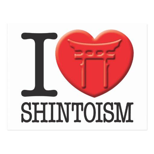 Amo Shintoism Tarjeta Postal