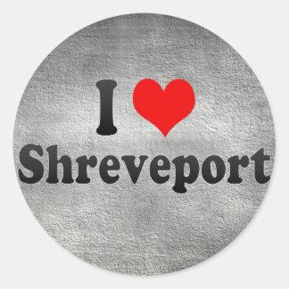 Amo Shreveport, Estados Unidos Pegatinas Redondas