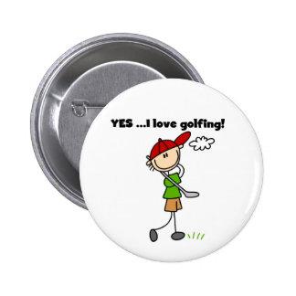 Amo sí el Golfing Pin