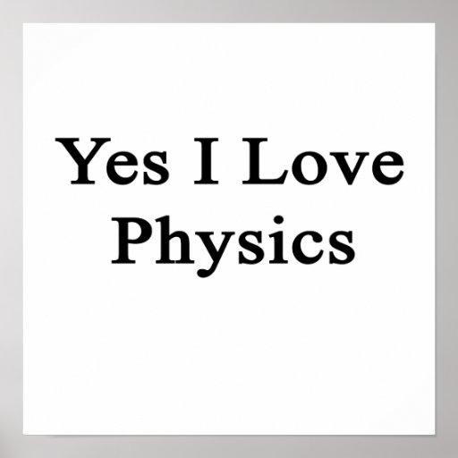 Amo sí la física impresiones