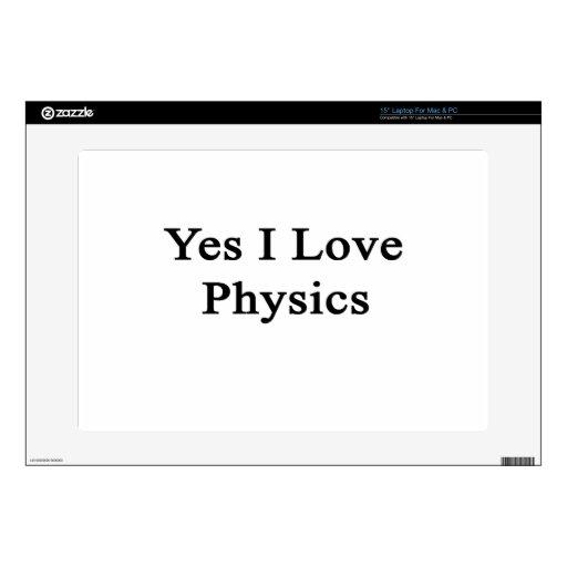 Amo sí la física skins para portátil