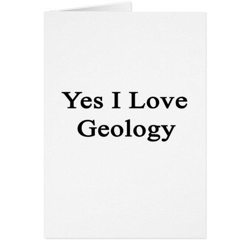 Amo sí la geología tarjeton
