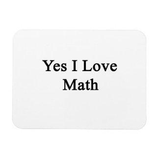 Amo sí matemáticas imán flexible