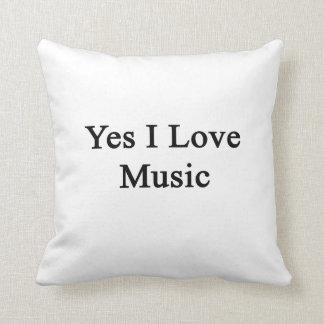 Amo sí música cojin
