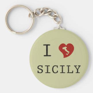 Amo Sicilia Llavero Redondo Tipo Pin