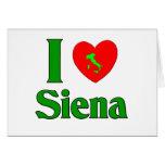 Amo Siena Italia Tarjeta De Felicitación