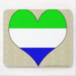 Amo Sierra Leone Alfombrilla De Ratón