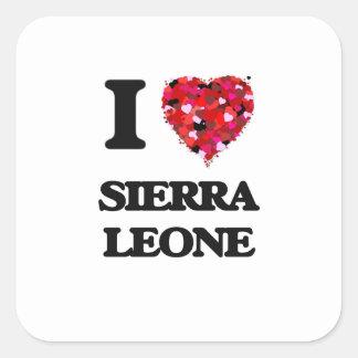 Amo Sierra Leone Pegatina Cuadrada