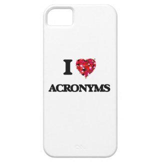 Amo siglas iPhone 5 carcasa
