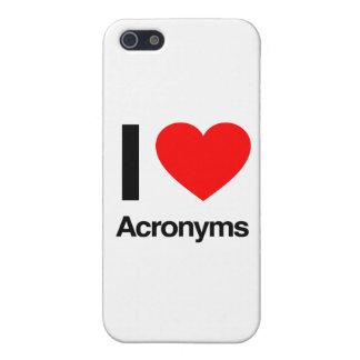 amo siglas iPhone 5 fundas
