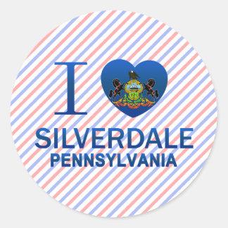 Amo Silverdale, PA Etiqueta Redonda