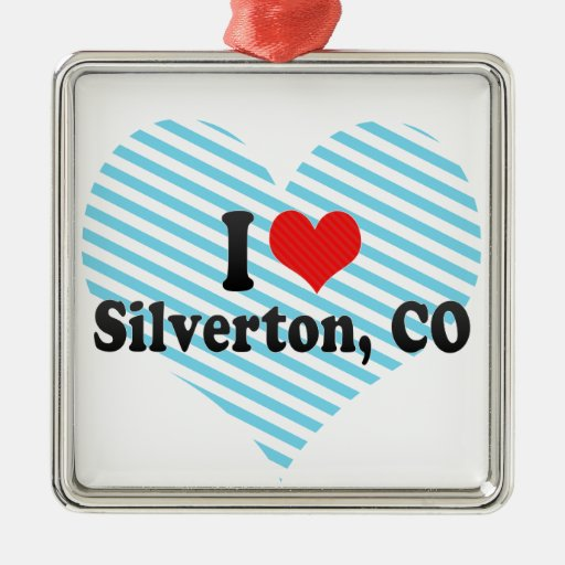 Amo Silverton, CO Adorno Cuadrado Plateado