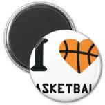 Amo símbolo del baloncesto imanes de nevera