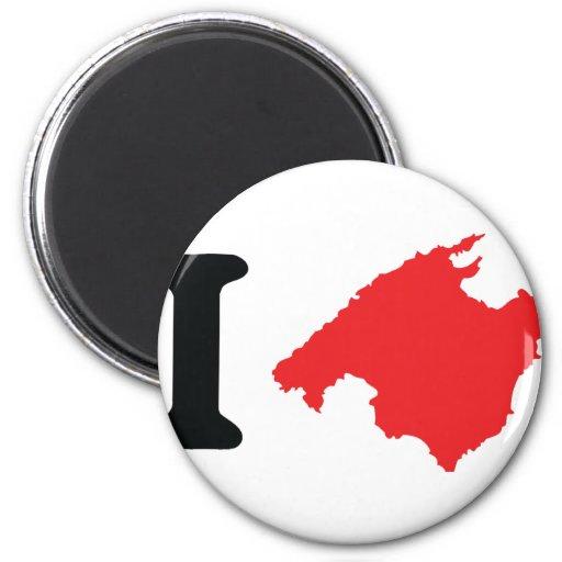 Amo símbolo del contorno de Mallorca Imanes De Nevera